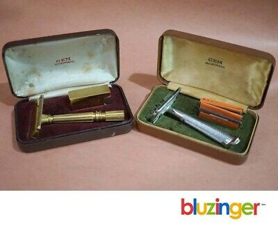 (2) Vintage GEM MICROMATIC Safety Razors
