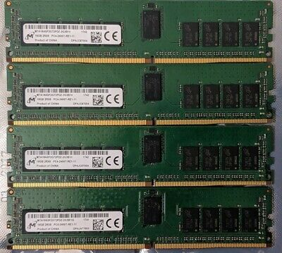 Dell Micron 64GB DDR4-2400T ECC reg (4x 16GB PC4-19200) MTA18ASF2G72PDZ-2G3B1