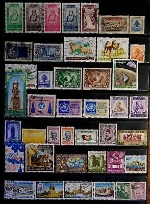Middle East: Afghanistan, Egypt, Lebanon: Classic-60'S Stamp Collection With Set