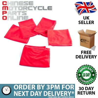 Red 5 Pack Of Microfibre Cloth (MEQ010)