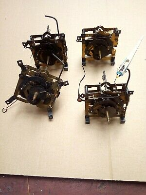 VINTAGE LOT OF 4 CUCKOO CLOCK MOVEMENTS for parts / repair schmekenbecher regula