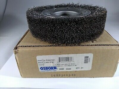 """NEW"" Osborn 22060 6"" 1-1/4 WIde Face Mater Wheel .010 CS Crimped Wire 2"" AH"