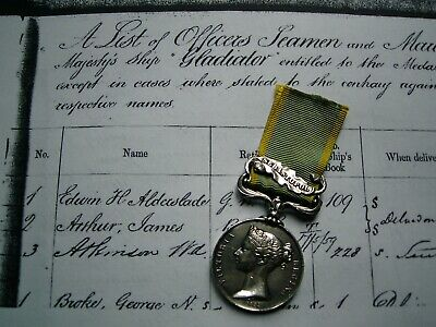 Victorian Crimea British medal Sebastopol Pte Batty Royal Marines HMS Gladiator