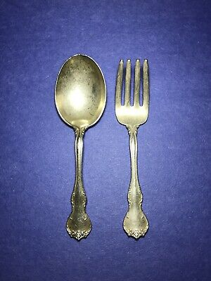 Childrens Baby Sterling Silver Fork & Spoon Set French Provincial (No Monogram)