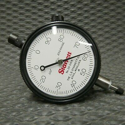 NEW STARRETT No. 25-241R DIAL INDICATOR in BOX machinist toolmaker tools