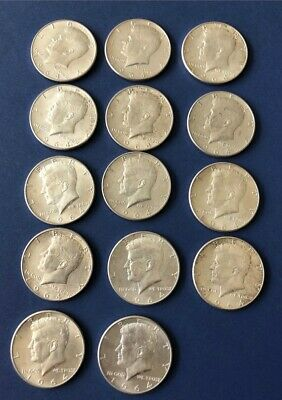 1964 US SILVER  KENNEDY  HALF  DOLLAR  - Lot of 14