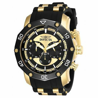 Invicta 50mm Pro Diver Scuba Quartz Chronograph Strap Watch Black 28754 BROKEN