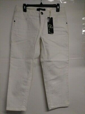 Blue Epic Women's White Capri Jean Pants Size:8 (Mildly Stained From Handling)