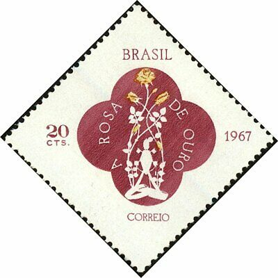 BRAZIL - 1967 - Gold Rose Church N.S. Aparecida - MNH Stamp - Sc.#1055