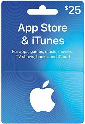 25$ App Store & iTunes Gift Cards ! Super fast delivery (only 2 cards left)