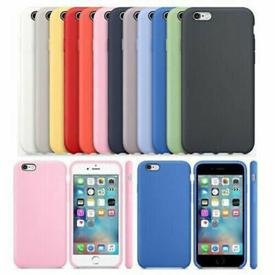 Genuine Original Silicone Hard Back Case Cover for Apple i Phone 6 6S 7 8 Plus