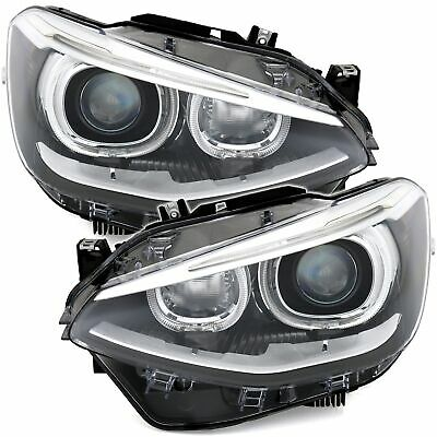 BMW F20 F21 10-15 Upgrade LED Angel Eyes Scheinwerfer Set Xenon Optik Halogen H7
