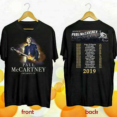 Paul McCartney Shirt 2019 Freshen Up Concert Tour Mens-Women T-shirt Black-Navy