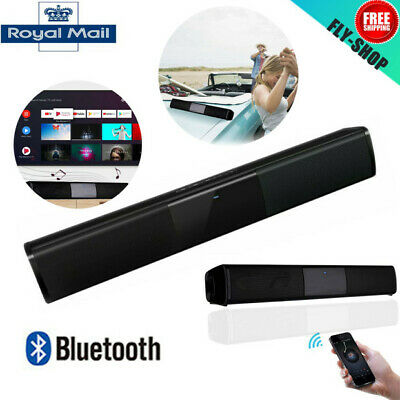 Wireless Bluetooth TV Soundbar Speakers Sound Bar Home Theater Subwoofer UK New