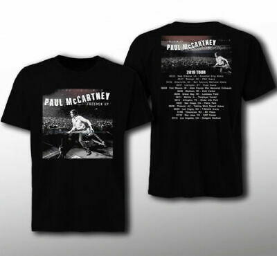 New Paul McCartney Freshen Up tour 2019 Classic Black T-shirt Mens-Women-Youth