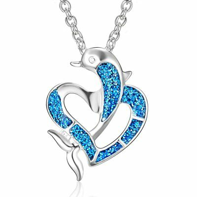 66d9001f HEART OF THE Ocean Light Blue Silver Necklace Chain Costume ...
