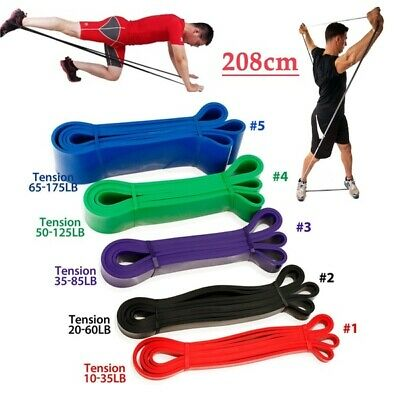HOT 6 Level Resistance Exercise Loop Bands Home Gym Yoga Fitness Natural Latex