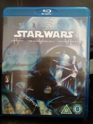 The Star Wars - The Original Trilogy (Blu-ray, 2011, Box Set)