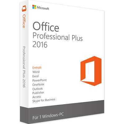 MS Office 2016 Professional Plus 32/64 Bit Produktschlüssel Key direkt per EMail