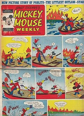 MICKEY MOUSE WEEKLY  W/ENDING AUGUST 11th 1956