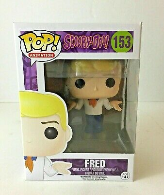 Funko POP! Animation Scooby-Doo Fred #153 VAULTED w protective case