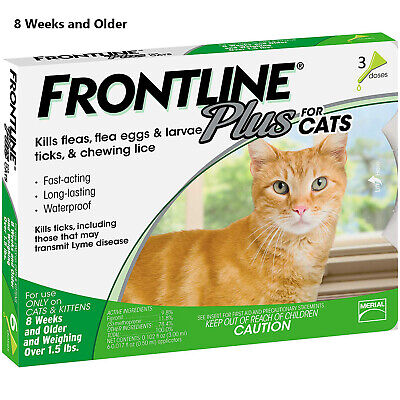 Frontline Plus 3 Month Supply For Cats Over 8-Weeks, Fast Free Shipping