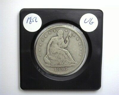 1856 Seated Liberty Silver 50 Cents  Very Good