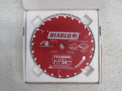 "Lot of 10 Freud Diablo D0724A 7-1/4"" Framing Saw Blades"