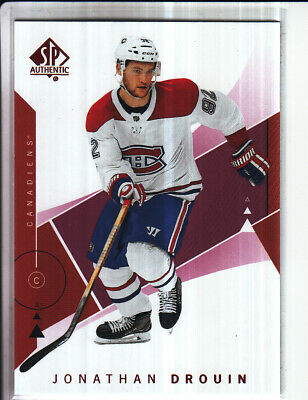 18/19 Ud Sp Authentic Jonathan Drouin Red Base Parallel #13