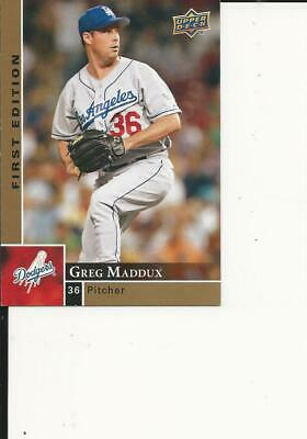 2009 Upper Deck First Edition Hall Of Fame Greg Maddux