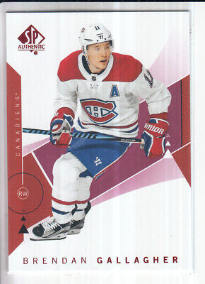 18/19 Ud Sp Authentic Brendan Gallagher Red Base Parallel #33