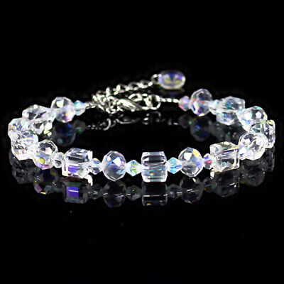 Women Aurora Borealis Crystal Bracelet Chain Wristband Adjustable Jewelry Summer