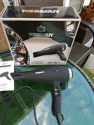 Toni & Guy TGDR5370 Salon Professional Hair Dryer Compact AC Power 2100W Black