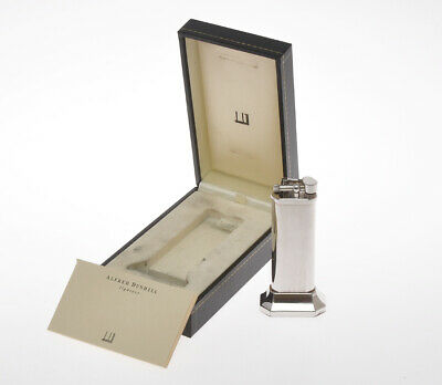 Dunhill Unique GAS silver & gold table lighter new old stock with box