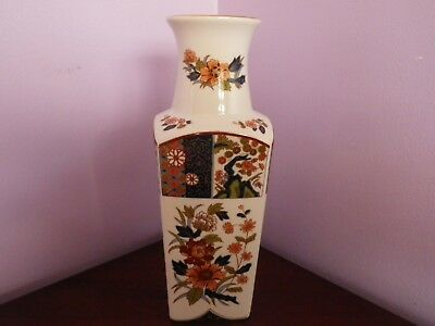 Fabulous Vintage Japanese Imari Many Flowers Design Square Vase 25.5 Cms Tall