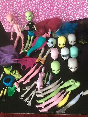 Monster High Large Create A Monster CAM Dolls Bundle Mermaid Witch Bee