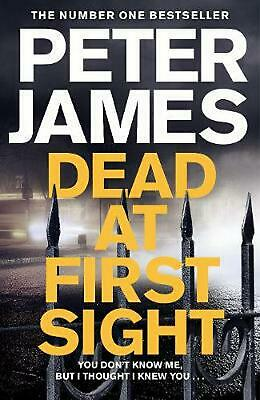 Dead At First Sight by Peter James (English) Hardcover Book Free Shipping!