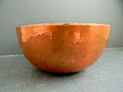 Newlyn Hammered Copper Rose Bowl