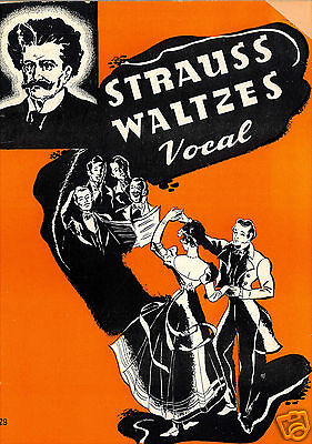Johann Strauss Waltzes Vocal - 1940 - Songbook