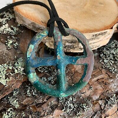 Ancient Celtic / Druids Bronze Big Solar Wheel Amulet, 2nd-1st centure BC