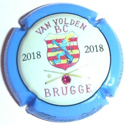 Capsule de Champagne : New !!! HOTTE Thierry, BRUGGE 2018 ! n°28j avec strass !