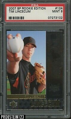 2007 SP Rookie Edition #124 Tim Lincecum RC Rookie San Francisco Giants PSA 9