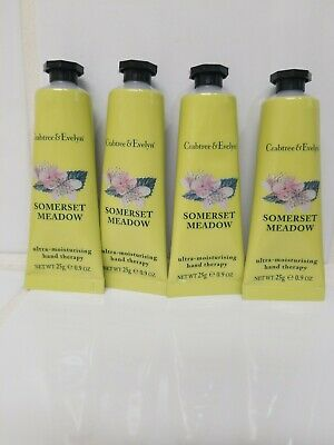 4 X Crabtree & Evelyn Travel Size Hand Therapy Ultra Moisturising SOMERSET MEADO