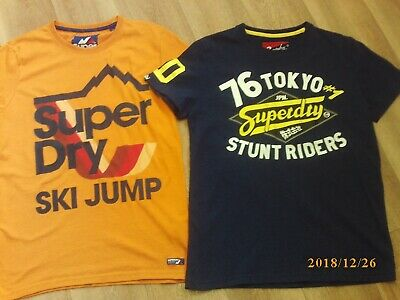2 X Mens Fantastic Condition  'Superdry'' T'shirts   Size Large'