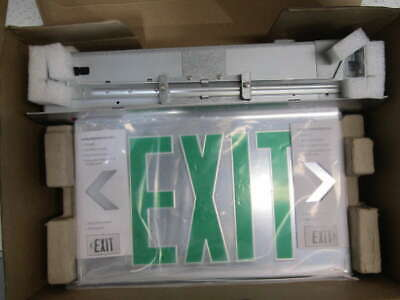 Lot of 3 Lithonia Lighting Emergency LED Green Exit Sign EDGR-1-GMR-X2-M4