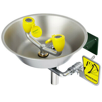 Speakman SE-582-PT  Wall Mount Eye Wash Station with Stainless Steel Bowl and