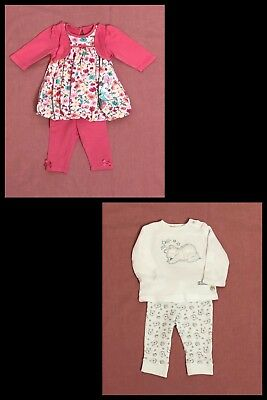 2 x Baby Girl's Disney Outfits Clothing Bundle Job Lot 0-3 months