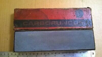 "Carborundum Stone Vintage Medium 116 Sharpening 8"" Stone"