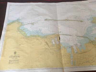 Europe Maps Vintage Marine chart sheet map of The Downs Goodwin sands Maps, Atlases & Globes
