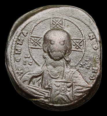Basil II and Constantine VIII. 976-1028 AD. Anonymous Christ Follis, Class A3